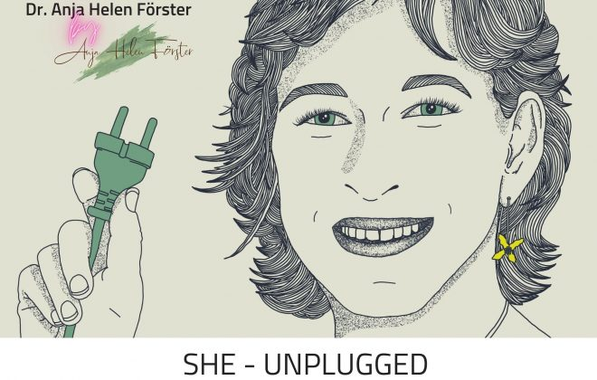 Podcastcover She Unplugged Folge 34 mit Anja Helen Förster