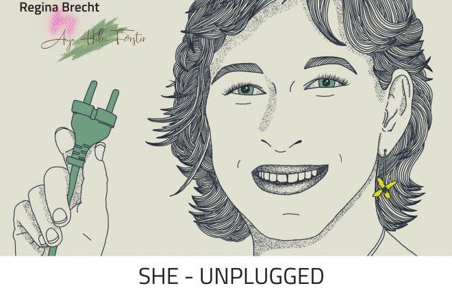 She Unplugged Podcast Folge 40 Cover Anja Förster Regina Brecht
