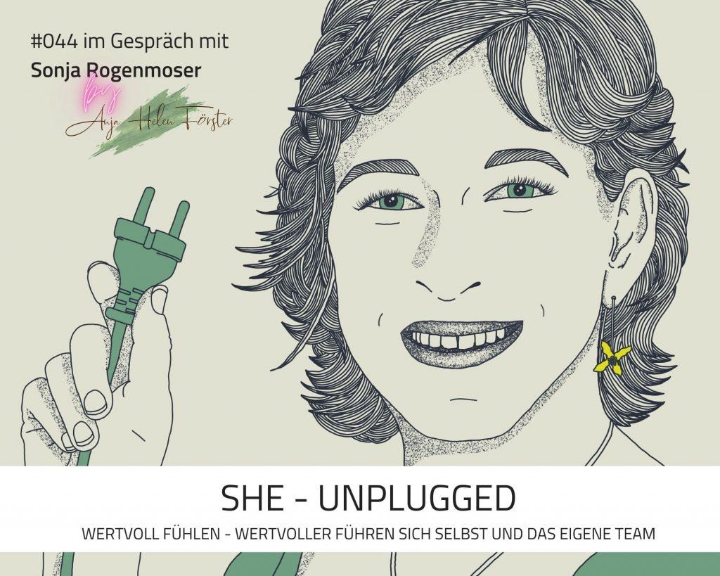 Podcast She Unplugged Coverbild Anja Förster Ronja Rogenmoser